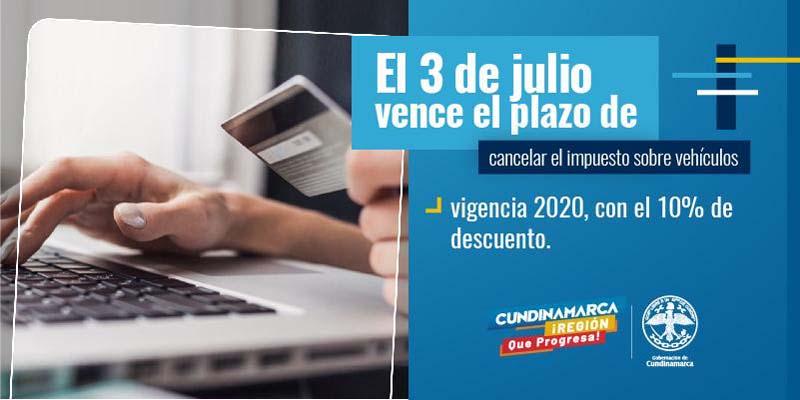 El 3 de julio vence plazo para pago de impuesto de vehículos con descuento en Cundinamarca